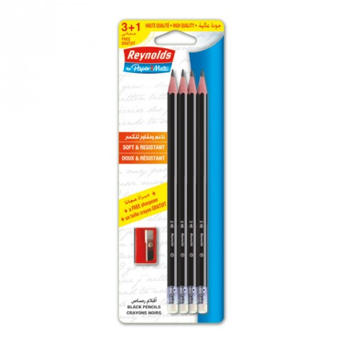 Crayons noirs avec gomme +Taille crayon REYNOLDS