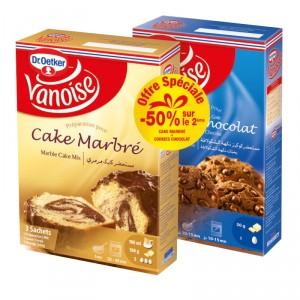 Préparation cake marbré + Cookies chocolat VANOISE
