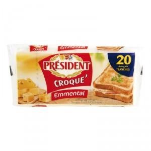 Fromage slice croque emmental PRÉSIDENT
